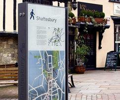Shaftesbury pedestrian signage