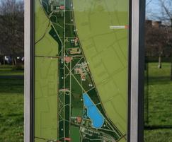 Frank monolith park wayfinding