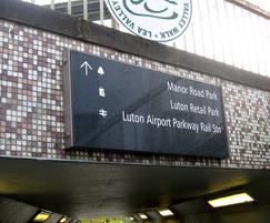 Underpass signs