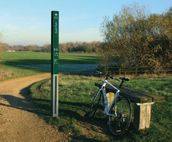 Mark cycle and walk route marker