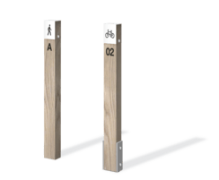 Timber marker for walking and cycling routes