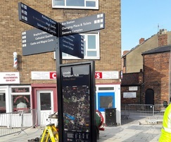 Installation of street wayfinding signage