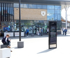 Transport interchange digital monolith