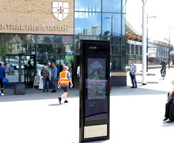 Transport hub digital monolith