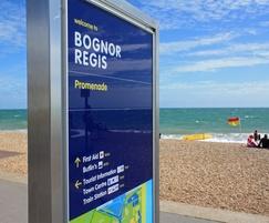 Bognor Regis seafront map signage