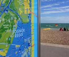 Coastal wayfinding signs