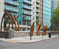 Bespoke designs at White Hart Dock, South Bank