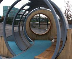 Hoop shelters offer fun, interesting social spaces