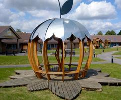 Apple with leaf/petal deck for a school in Rotherham