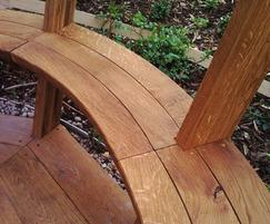 English oak seating and floor
