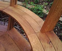 English oak seats and floor