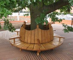 Timber tree bench