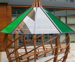 Acrylic roof glazing system