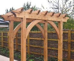 Traditional timber framed oak pergola