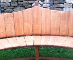 Curved timber seat
