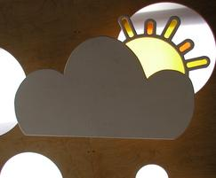 Cloud Roof outdoor classroom - sun detail