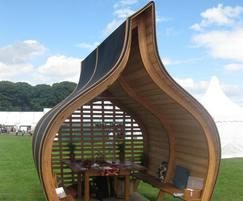 Oak Onion dinning Pod, with Siberian larch and EPDM