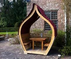 Oak Onion dinning Pod, with Siberian larch and canvas