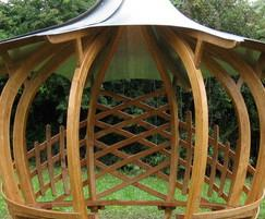 Onion Shelter with curvy cladding and roof
