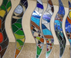 Red Kites stained glass windows