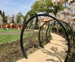 Tunnel and Fruit Hoops - Children's Garden, Kew