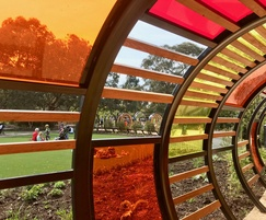 Colourful Tunnel Hoops - Kew Children's Garden