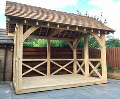 Oak summerhouse for private garden