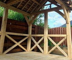 Oak summer house designed by Handspring Design