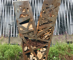 Corten steel V bug house