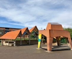 Walkley School stage and covered seating design