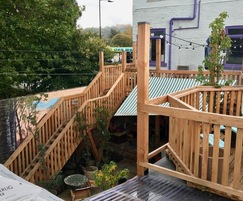 Timber stairs - Hagglers Corner, Sheffield