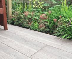 Albero porcelain paving has the detailed look of wood