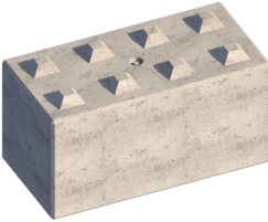 Legato engineered concrete block