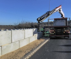 Legato concrete blocks being positioned