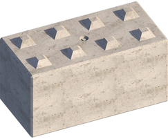 Legato interlocking concrete block