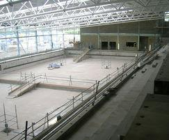 Waterproofing basildon sporting village olympic pool pudlo waterproof concrete systems esi for Basildon sporting village swimming pool