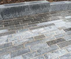 Scottish Whinstone paving at CS Lewis Square, Belfast
