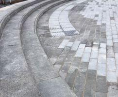 Scottish Whinstone steps and paving at CS Lewis Square