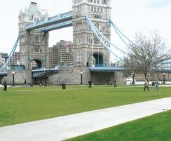 AE100M landscape edging, Potters Field Park, London