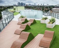 Terrafina Excel decking for rooftop terrace