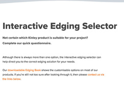 Kinley : Kinley launches new landscape edging selector tool