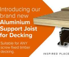 Kinley : New aluminium support joist for timber decking