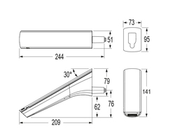 CONTI+ Ultra Sensor Tap - wall mount, battery + solar