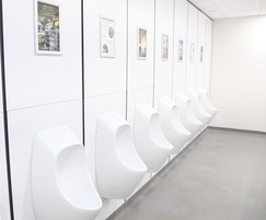 Urimat waterless urinals reduce waste removal load
