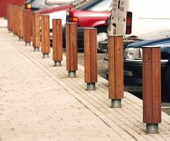 The LBD100 Bollard has 4 Hardwood Iroko Slats