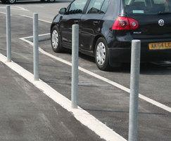 Malford Fixed Bollard in Galvanised Steel - MBD200