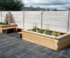 Barnoldswick Primary School SBN309 Planter Benching