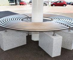 Bristol Airport, MBN212 Curved Bench
