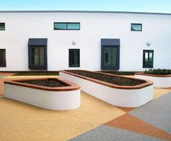 SBN336 walltop benches, Langdon Hospital