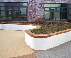 SBN336 walltop bench, Langdon Hospital